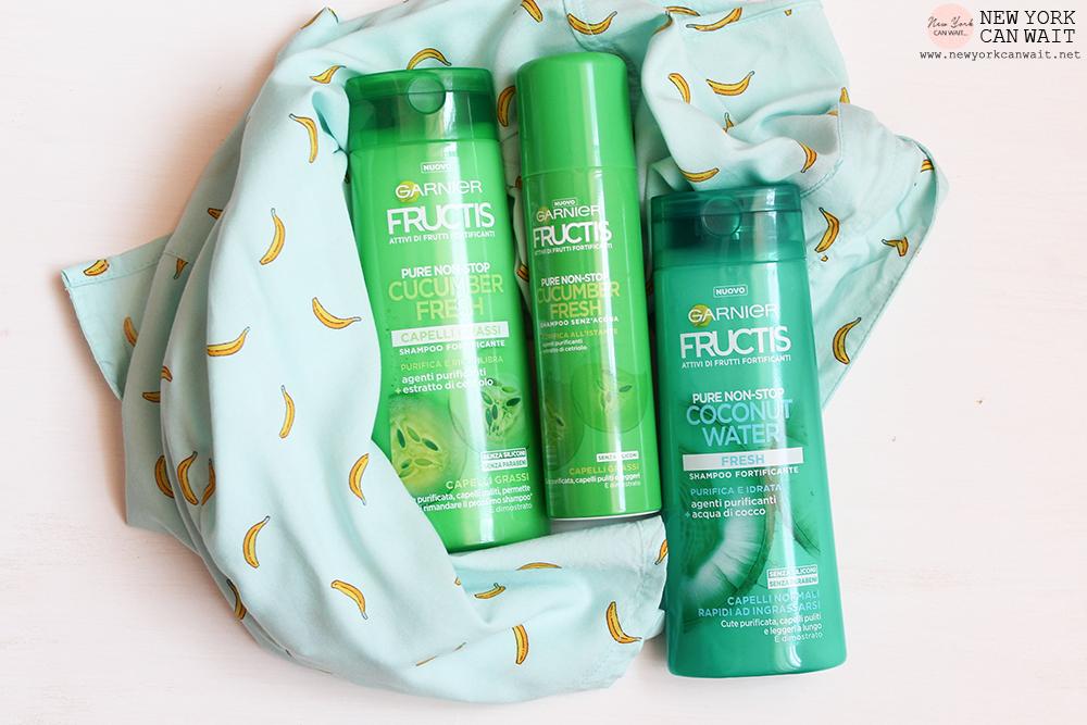 Nuovo Fructis #SUPERFRUTTI.  Linea PURE NON-STOP: Coconut Water - Cucumber Fresh.