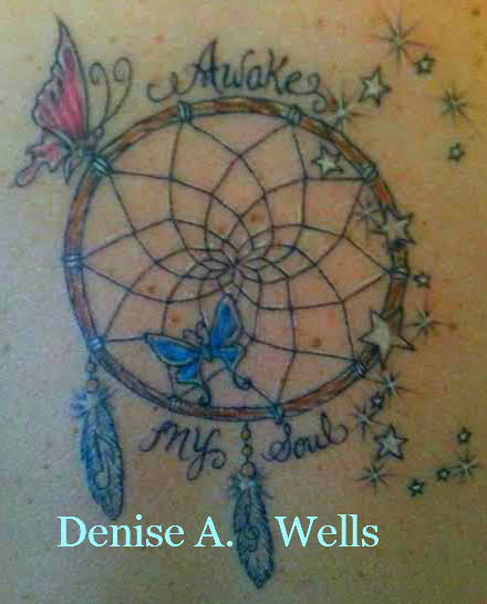 awake my soul dreamcatcher tattoo design by denise a well flickr. Black Bedroom Furniture Sets. Home Design Ideas