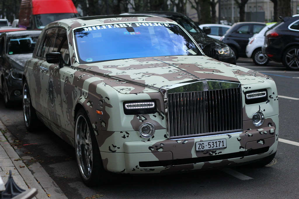 White Rolls Royce >> Rolls Royce Phantom ( Military Police wrap ) | Don't use thi… | Flickr