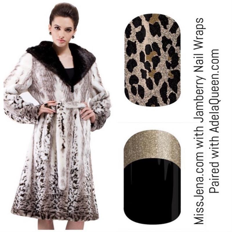 Adela Queen custom faux fur with jamboree nail wraps