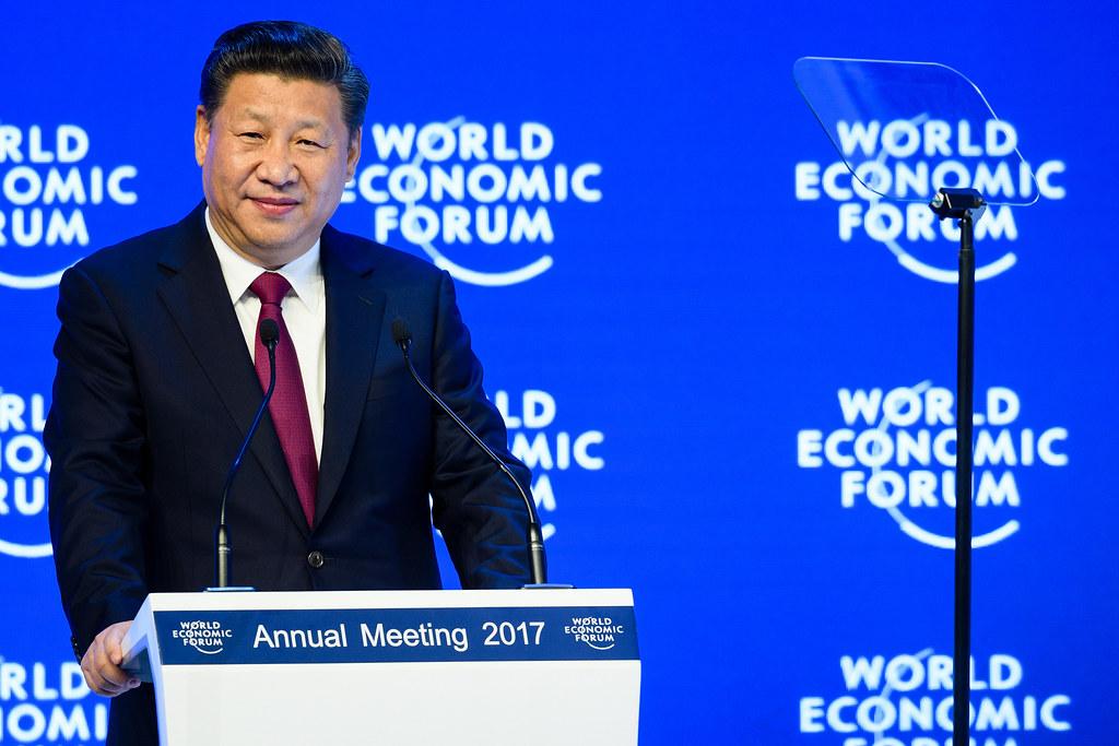 習近平在世界經濟論壇上強調中國會持續採取行動應對氣候變遷。圖片來源:World Economic Forum(CC BY-NC-SA 2.0)
