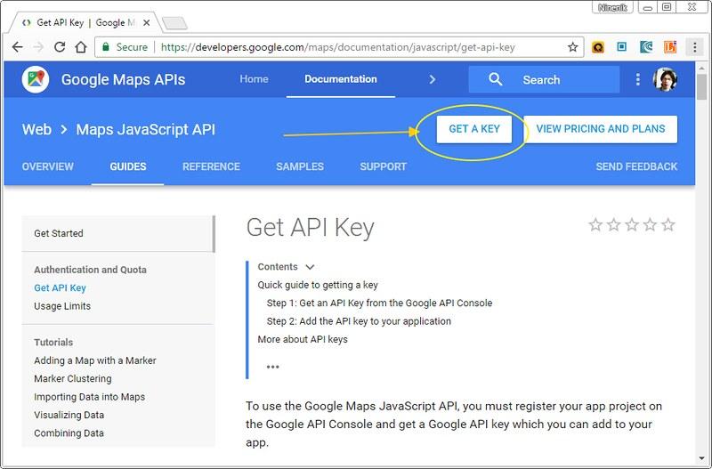 แนวทางแก้ปัญหา Google map ไม่แสดง และการใช้งาน API Key เนื้อ คอร์ส