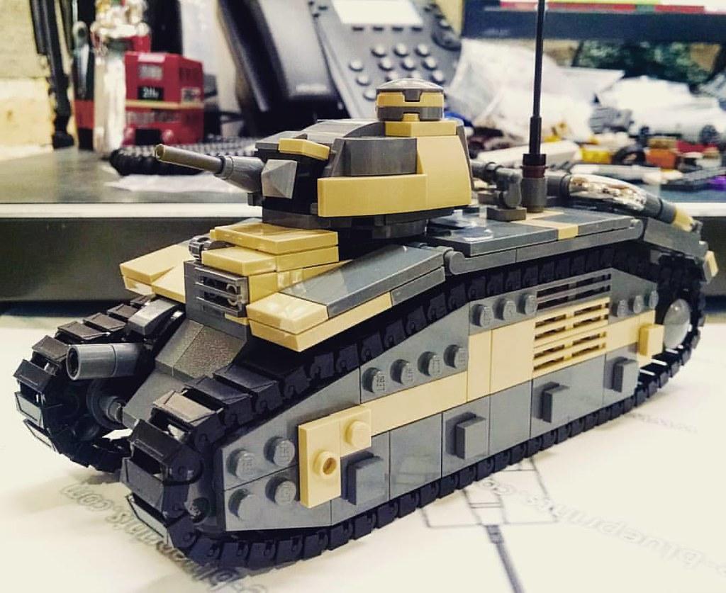 Char b1 bis second prototype brickmania lego custom for Siege lego france