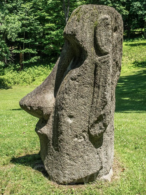 Easter island head reproduction stone sculpture