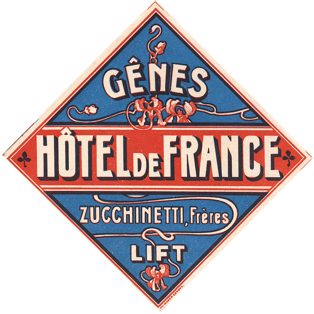 Genes genova hotel de france italy art of the luggage for Hotels genes