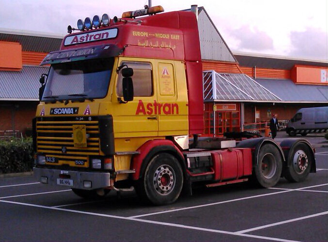 Astran Scania Seen In Bexhill Today Vehicle Still