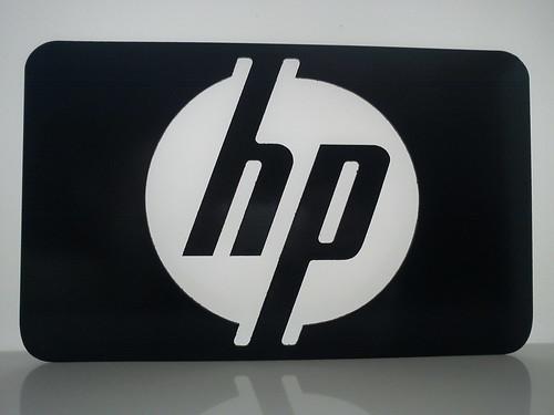 hp Logo Black White hp Logo Black Alu