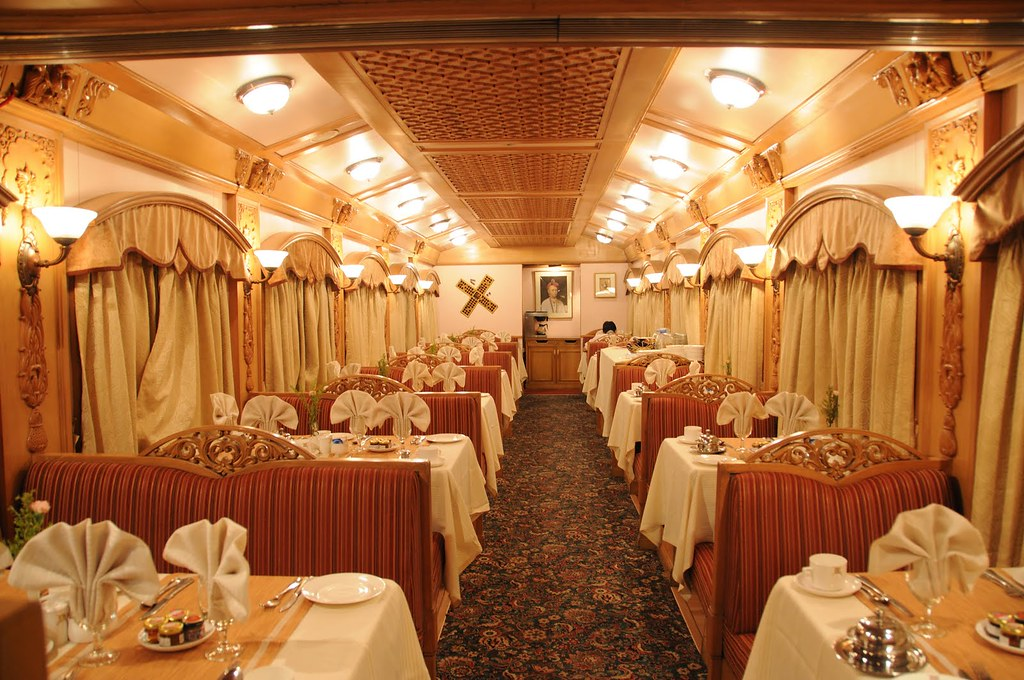 maharajas 39 express india dining car the luxury train cl flickr. Black Bedroom Furniture Sets. Home Design Ideas