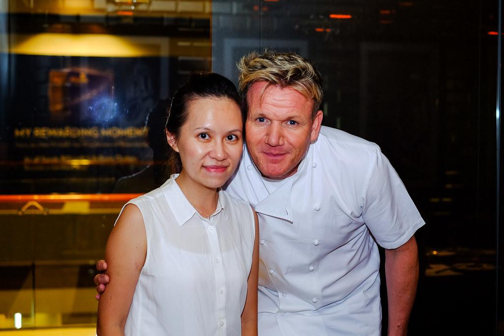 Maureen Ow with Gordon Ramsay @ Bread Street Kitchen Singapore