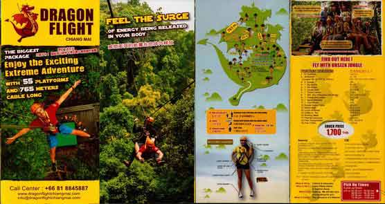 Brochure Dragon Flight Zipline Chiang Mai Thailand 1
