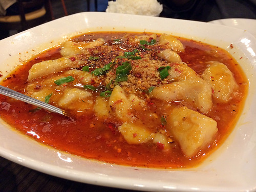 Spicy Sichuan boiled fish fillet