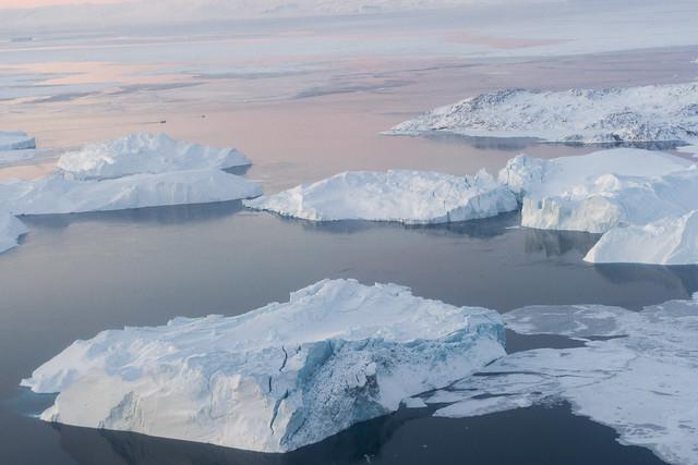 格陵蘭的冰川。(來源:聯合國/United Nations Photo)