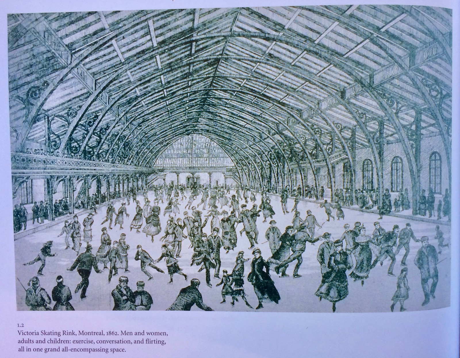 Roller skating rink oakville - Check Out For Example This 1862 Illustration Of Victoria Skating Rink In Montreal For All The Images That Follow You Can Click To Enlarge