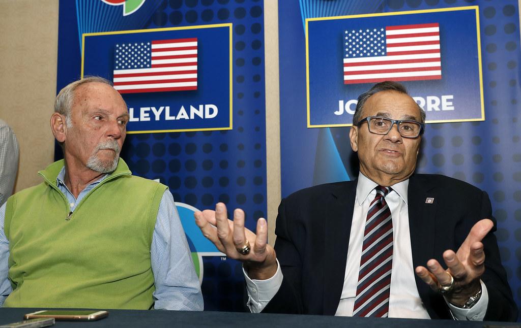 經典賽美國總教練Jim Leyland(左)總經理Joe Torre(右)。(達志影像資料照)