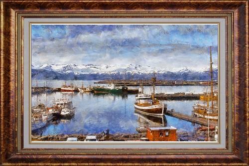 Port de Husavik (Painting)