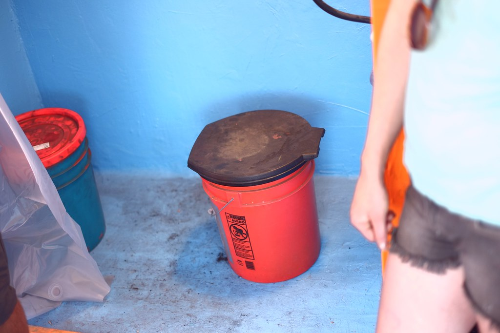 A Basic Composting Toilet 5 Gallon Bucket And Seat Cover