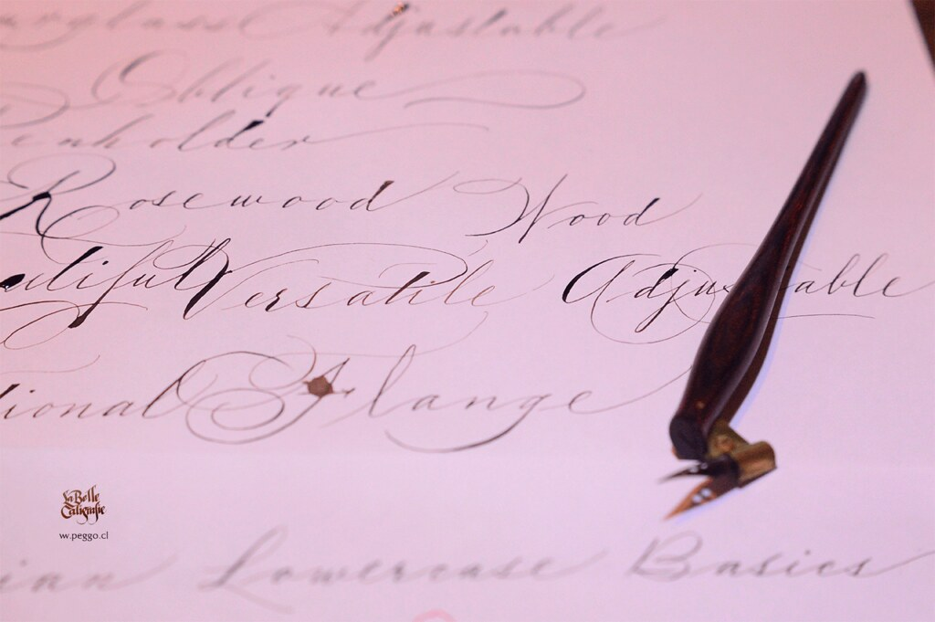Spencerian Spencerian Calligraphy Done With Hourglass