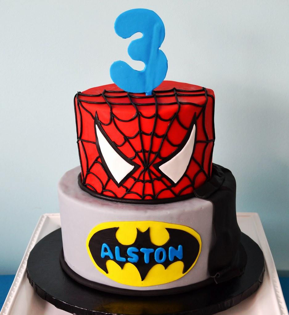 coloring pages batman spiderman cakes - photo#5