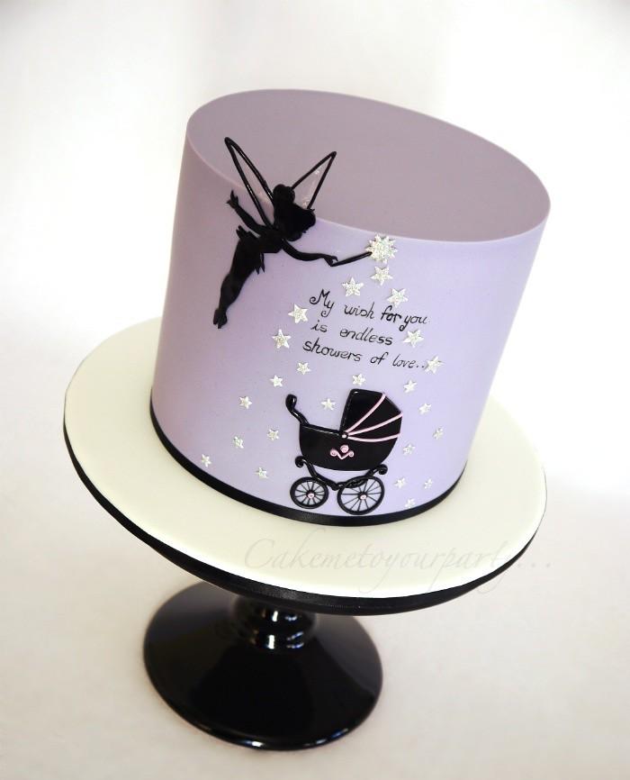 Tinkerbell Baby Shower Cake | Www.facebook.com/cakemetoyourpu2026 | Flickr
