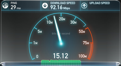 Speedtest 92 Mbps Work Broadband - If only I had no proxy ...