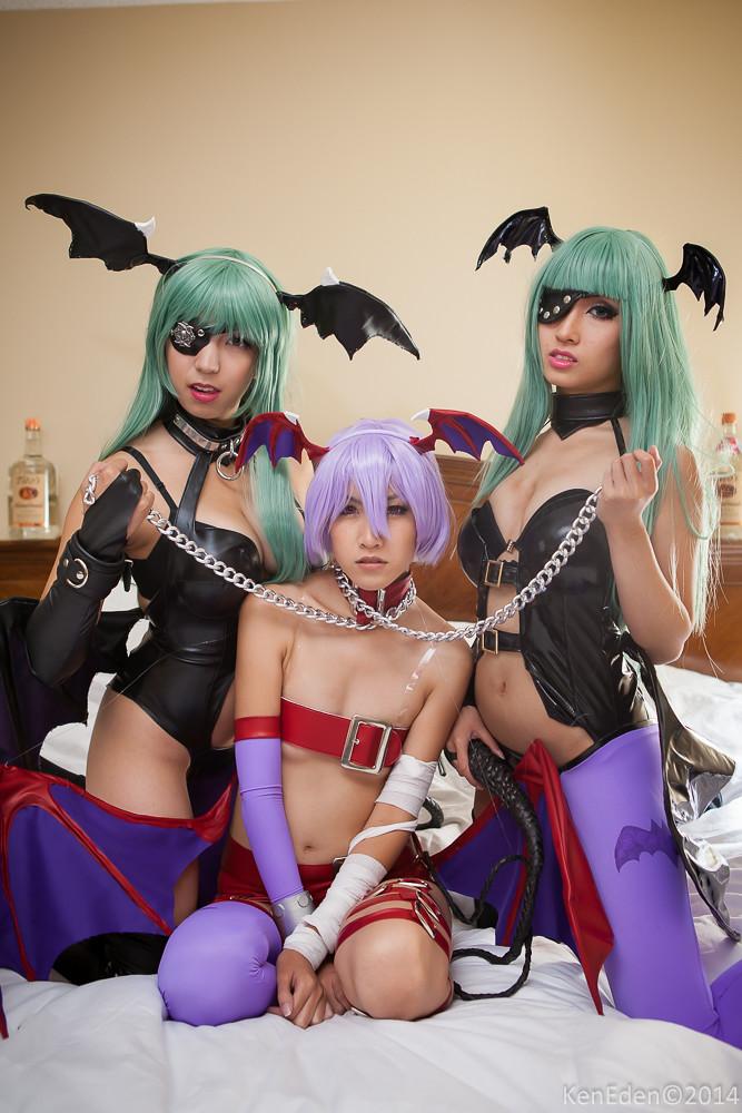 Dark Stalkers Cosplay Bdsm Shoot  Models Hikaru Jan Www -1091