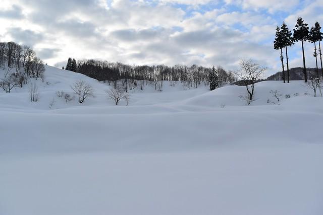 守門岳の積雪