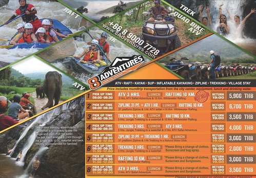Brochure 8 Adventures Whitewater Rafting Chiang Mai Thailand 1