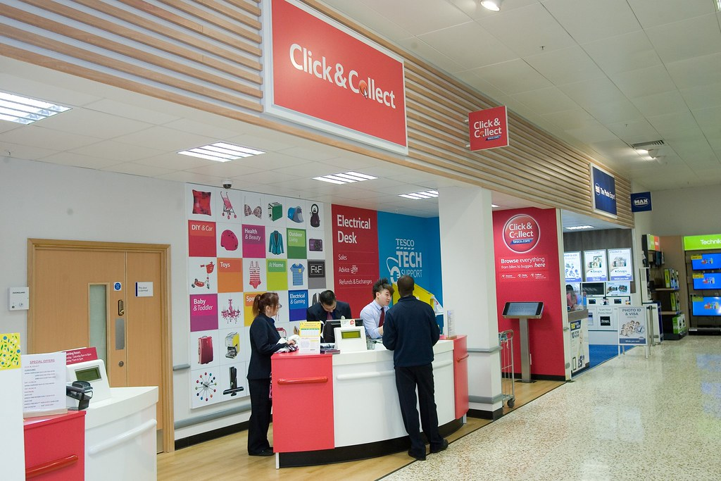 new click collect desk tesco plc flickr. Black Bedroom Furniture Sets. Home Design Ideas