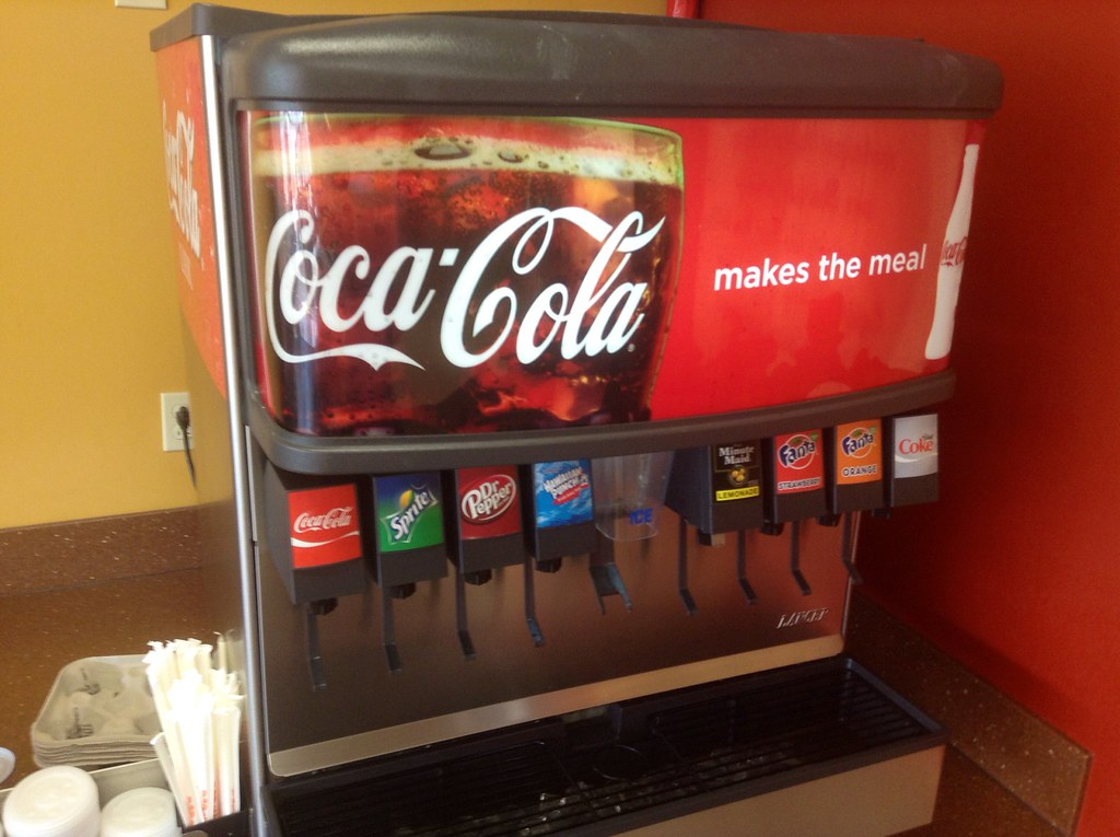 coca cola drinks machine