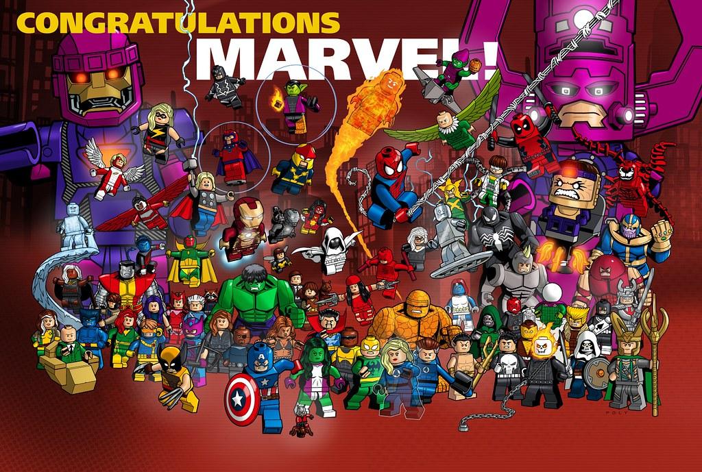 Lego congratulations marvel fantastic 2 page spread of - Coloriage lego super heros ...