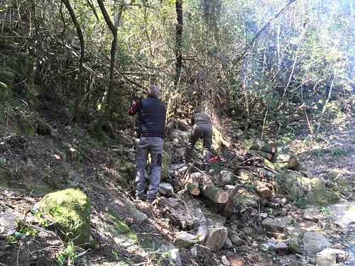Nettoyage autour du sentier de Petra Stretta