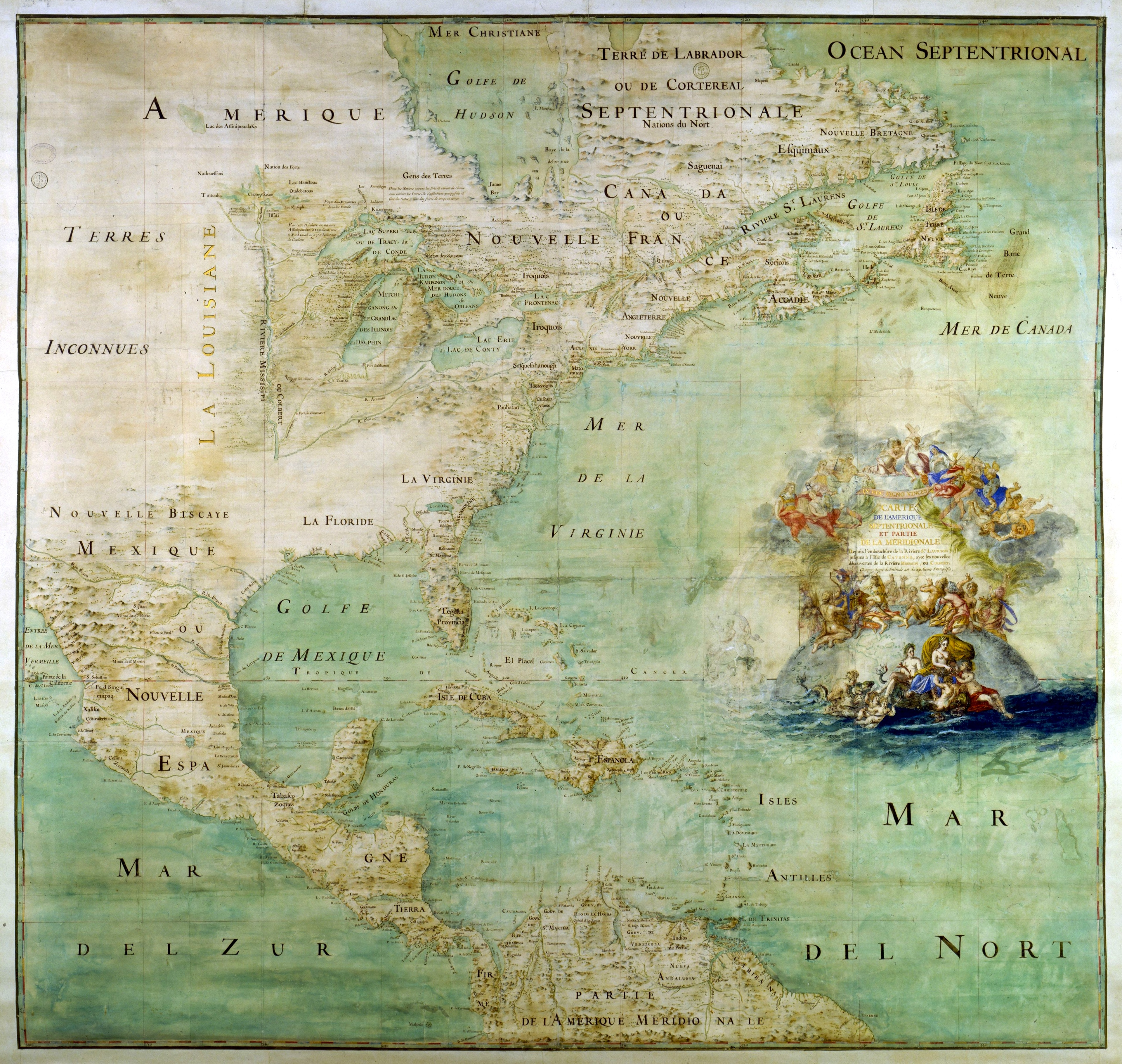 1681 map of the New World