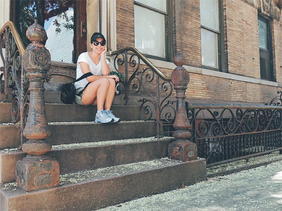 As entradas de casas no Brooklyn são um charme só. O clichê