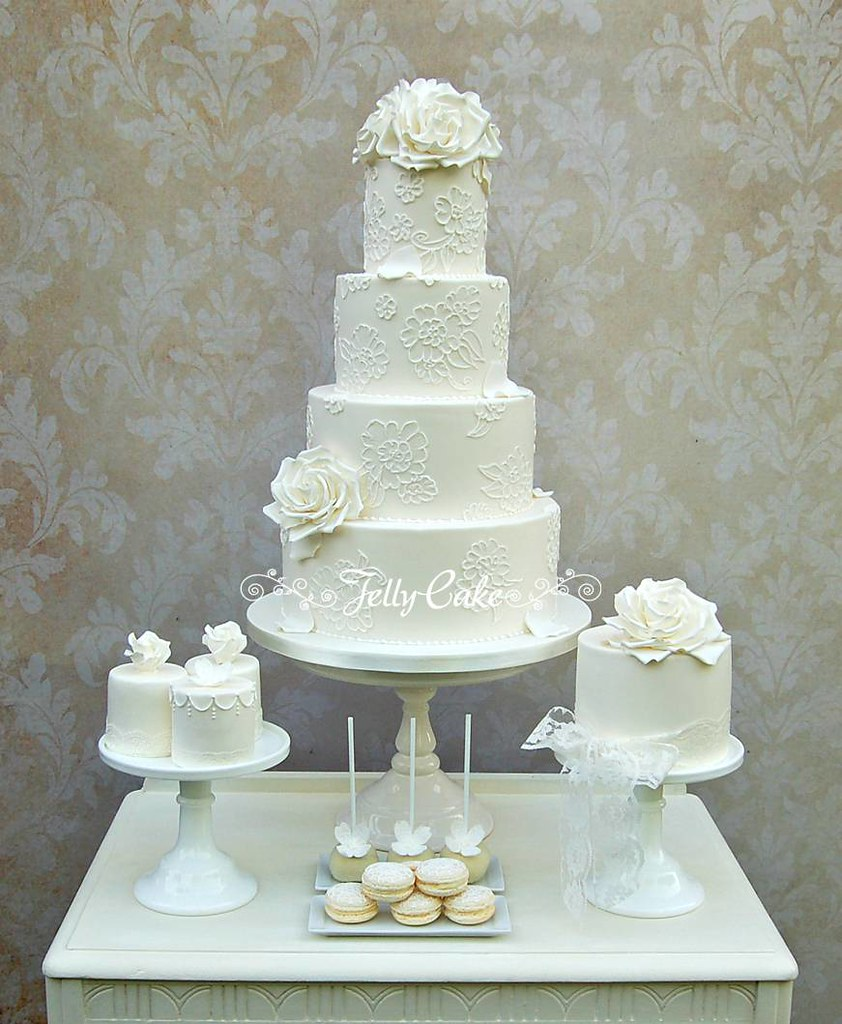 cake table wedding lace and roses wedding dessert table the cakes cake 2345
