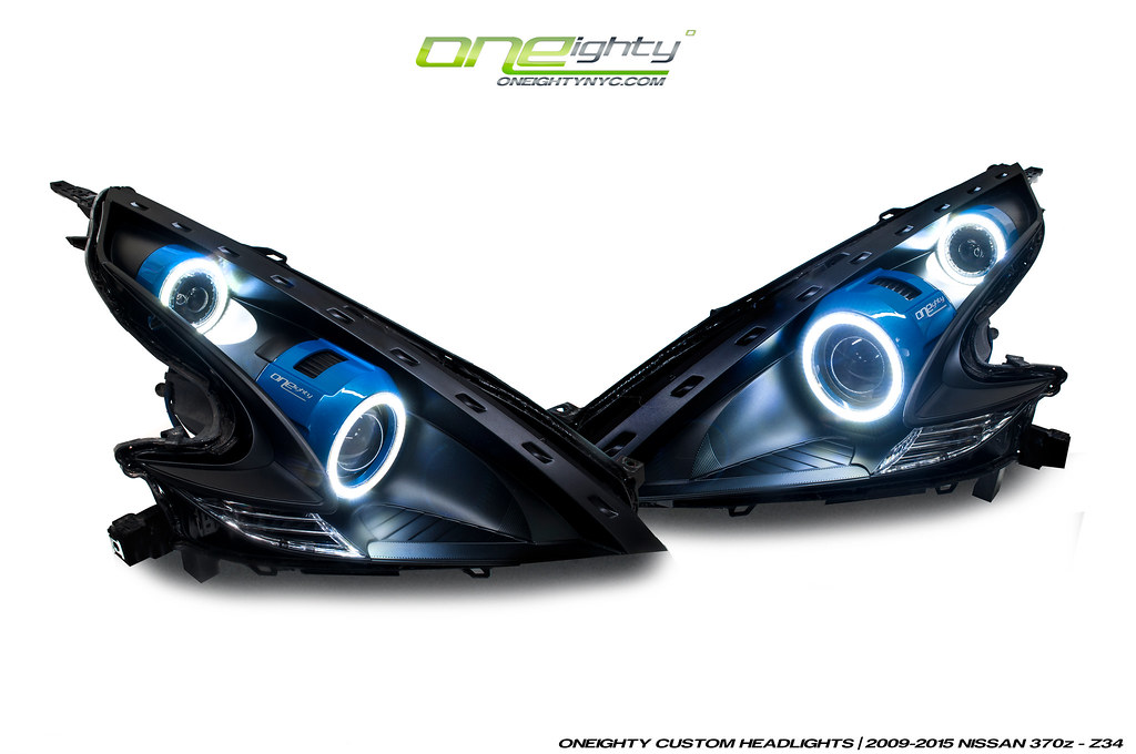Nissan 370z Custom Headlights By Oneighty Another Setup