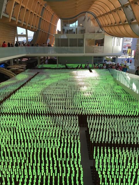 foto padiglione Cina, installazione LED