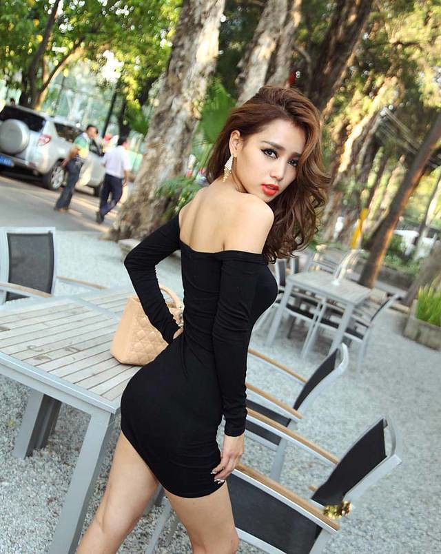 All sizes new 2014 europe sexy women dress slash neck off the