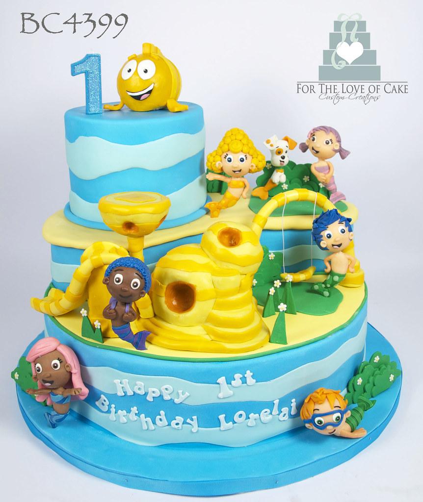 bc4399 bubble guppies cartoon 1st birthday cake toronto flickr