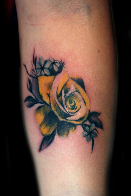 Vintage yellow rose tattoo flickr photo sharing for Yellow rose tattoo