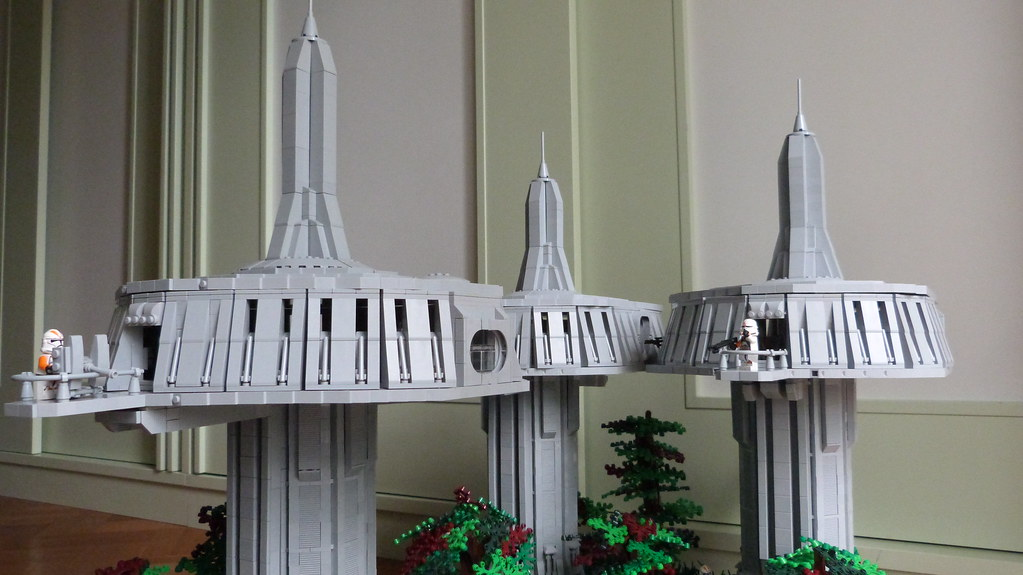 LEGO Star Wars Base on Naboo   Picture of the side.   TWC Productions ...