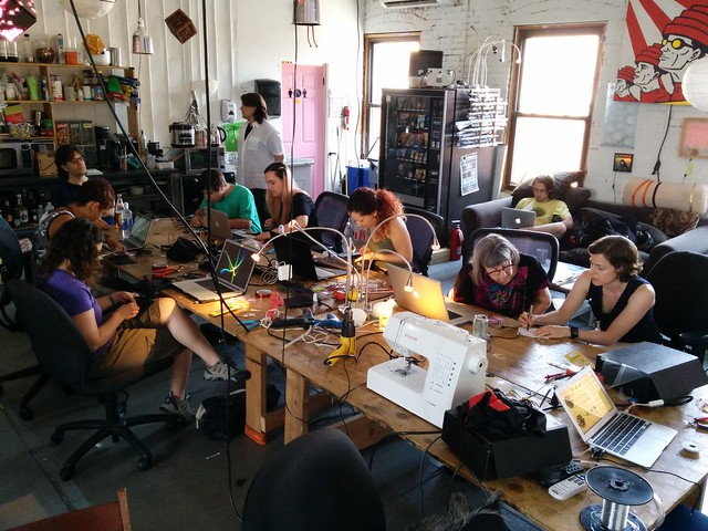 Wearables class at NYCR