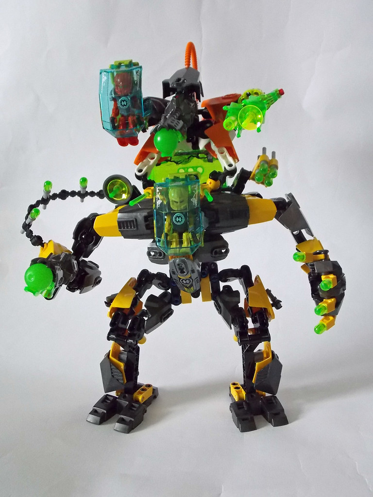 Lego Hero Factory Moc Nex Walker Turret And Modded Evo X