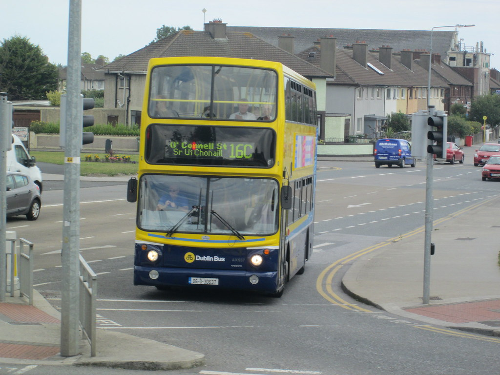 Dublin Bus Ax637 Route 16c At Whitehall Vc105 Flickr