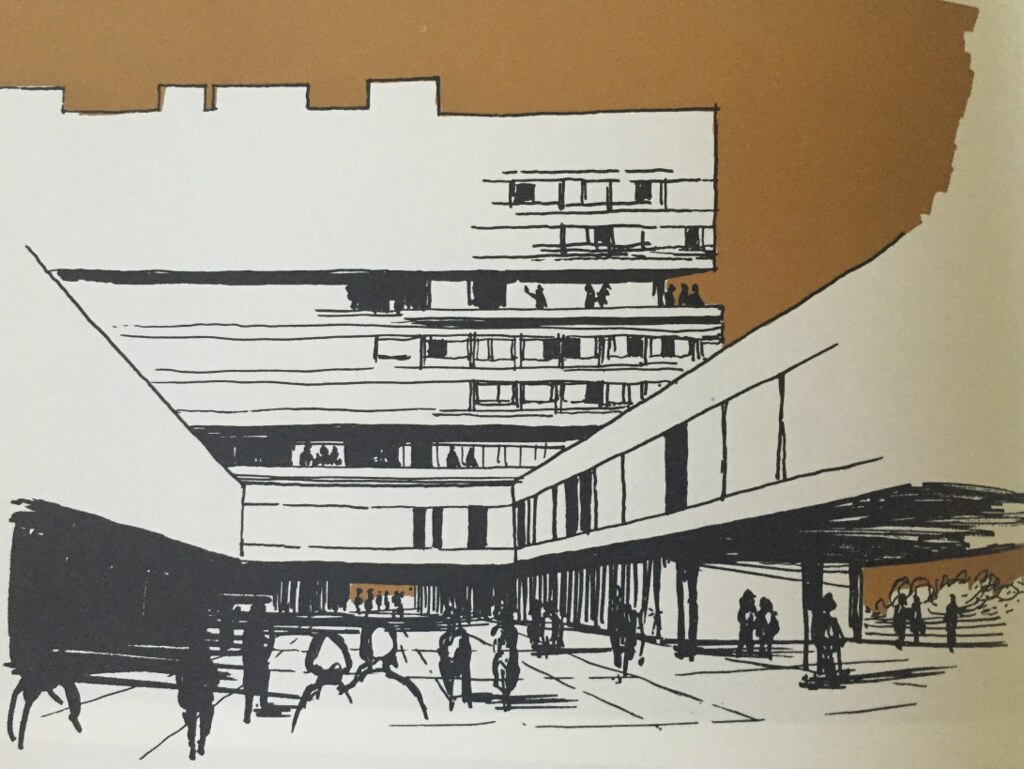 An architect's illustration of the Parade, 1965