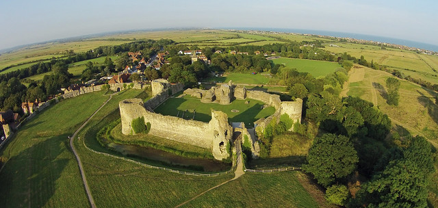 Aerial Shot of Pevensey Castle, East Sussex
