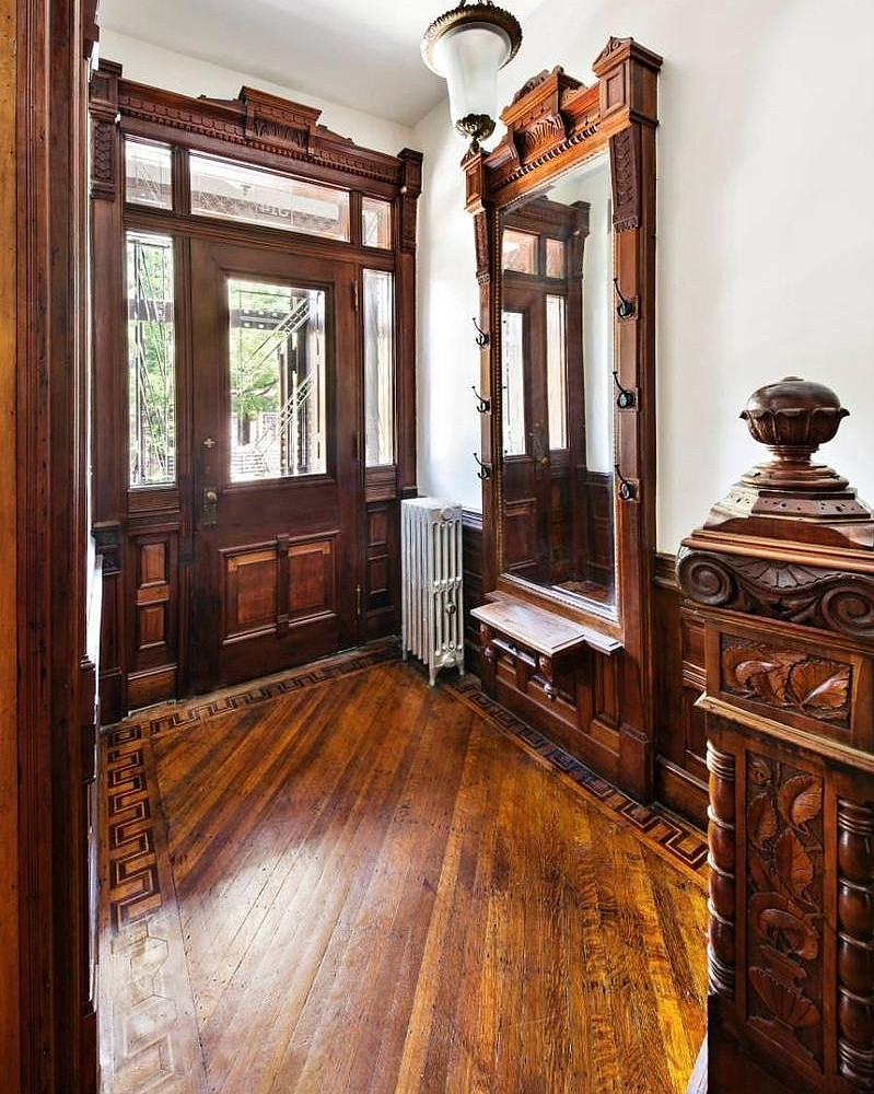 Victorian Foyer Jobs : Jefferson avenue brooklyn brownstone foyer built flickr