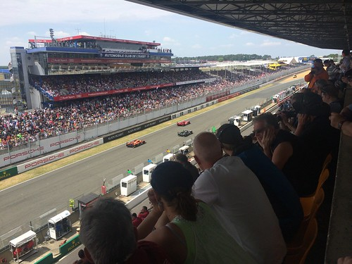 View from the grandstand in Le Mans