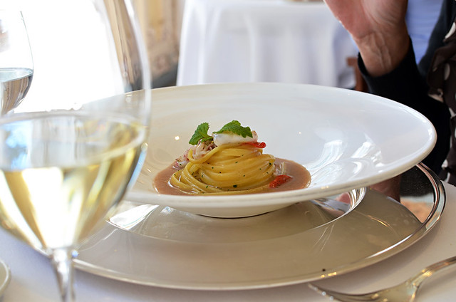 Michelin star pasta, Lake Iseo, Italy