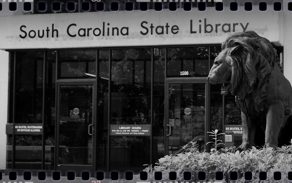 Sc state library building and lions south carolina state for R kitchen south carolina