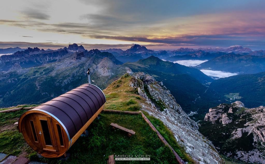 Sauna - Lagazuoi - Dolomites   2014 Mirco Volpi - Fuji X -4419